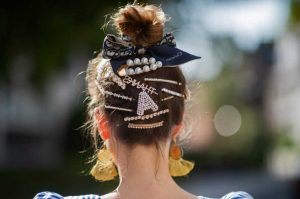 embellished barrette hair